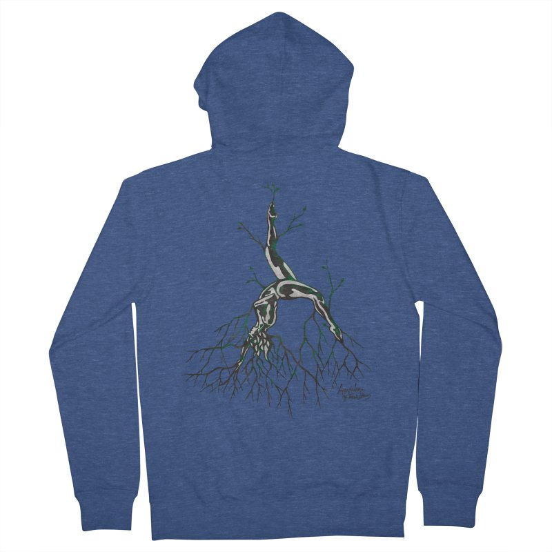 Tree Dancer 3 - Earth Tones Men's French Terry Zip-Up Hoody by Anapalana by Tona Williams Artist Shop