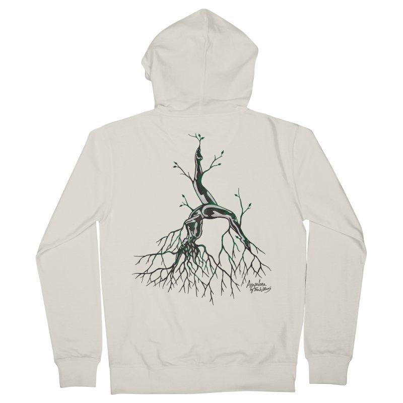 Tree Dancer 3 - Earth Tones Men's Zip-Up Hoody by Anapalana by Tona Williams Artist Shop