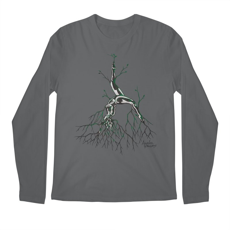 Tree Dancer 3 - Earth Tones Men's Regular Longsleeve T-Shirt by Anapalana by Tona Williams Artist Shop