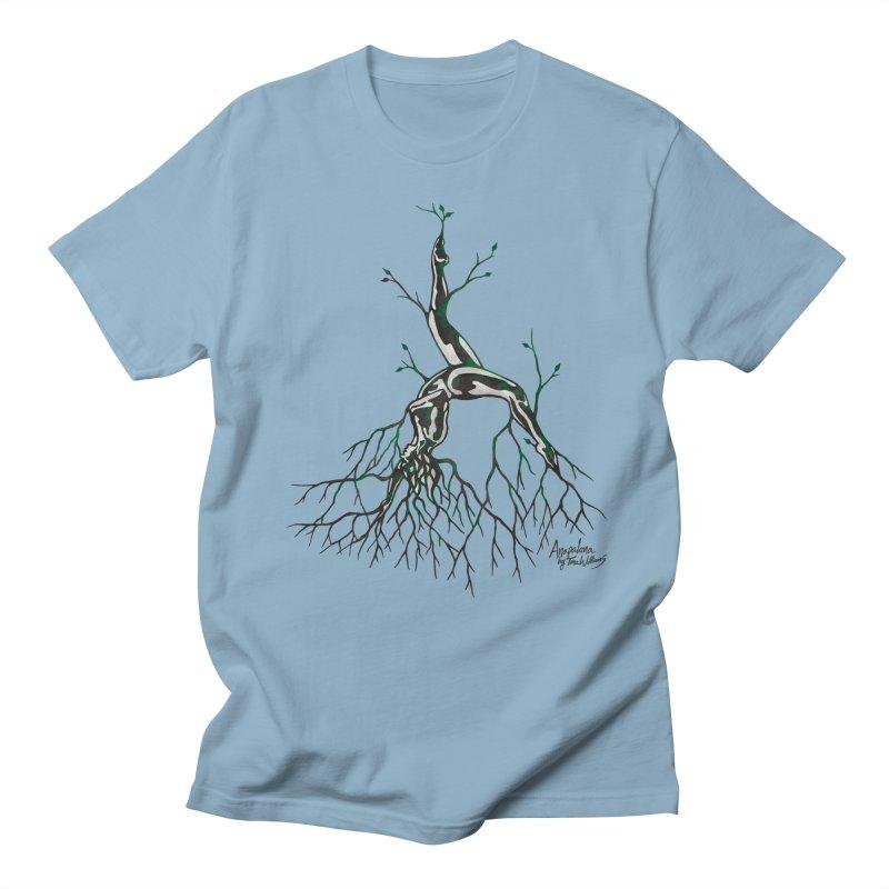 Tree Dancer 3 - Earth Tones Men's Regular T-Shirt by Anapalana by Tona Williams Artist Shop