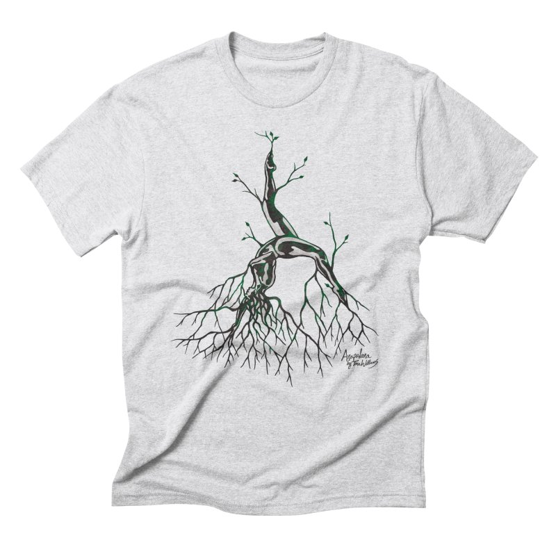 Tree Dancer 3 - Earth Tones Men's Triblend T-Shirt by Anapalana by Tona Williams Artist Shop