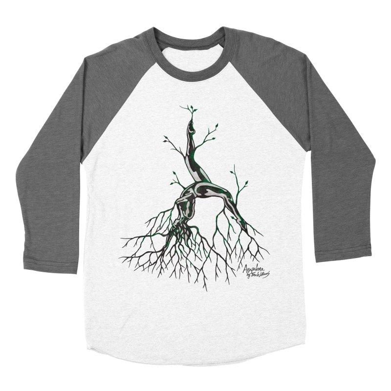 Tree Dancer 3 - Earth Tones Women's Baseball Triblend Longsleeve T-Shirt by Anapalana by Tona Williams Artist Shop