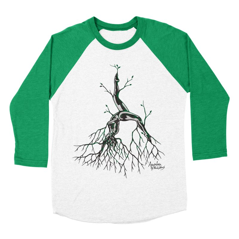 Tree Dancer 3 - Earth Tones Women's Baseball Triblend Longsleeve T-Shirt by Anapalana by Tona Williams Artist Shop