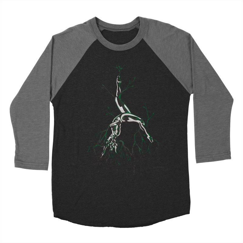 Tree Dancer 3 - Earth Tones Women's Baseball Triblend T-Shirt by Anapalana by Tona Williams Artist Shop