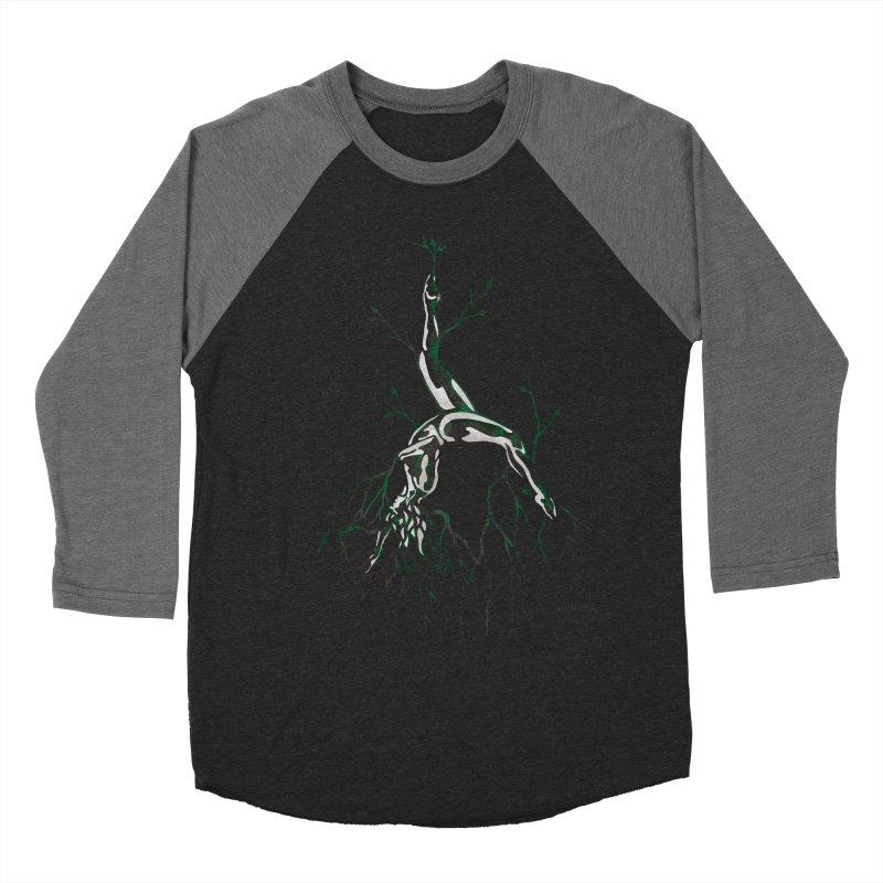Tree Dancer 3 - Earth Tones Men's Baseball Triblend Longsleeve T-Shirt by Anapalana by Tona Williams Artist Shop