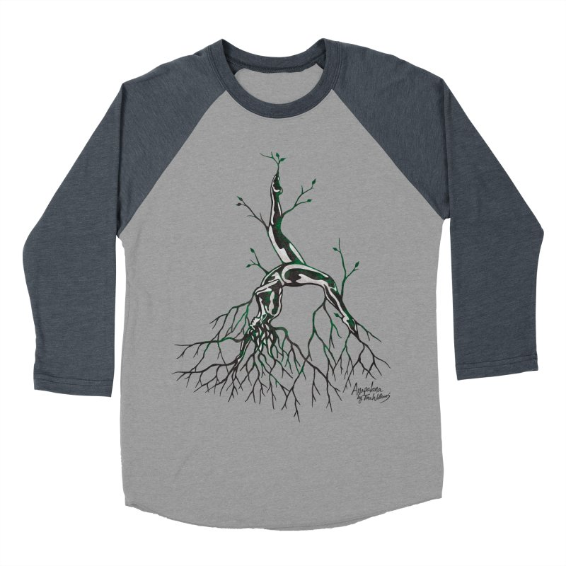 Tree Dancer 3 - Earth Tones Men's Baseball Triblend T-Shirt by Anapalana by Tona Williams Artist Shop