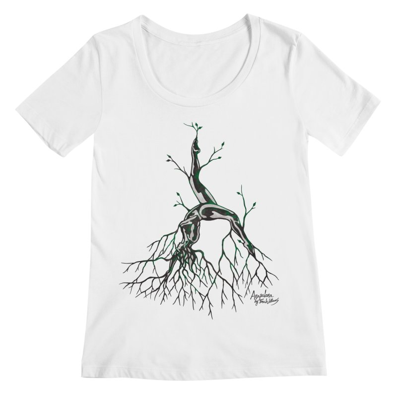 Tree Dancer 3 - Earth Tones Women's Regular Scoop Neck by Anapalana by Tona Williams Artist Shop
