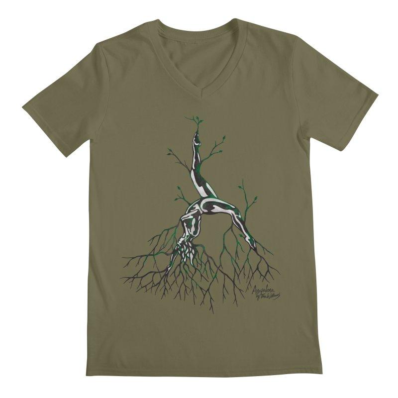Tree Dancer 3 - Earth Tones Men's Regular V-Neck by Anapalana by Tona Williams Artist Shop