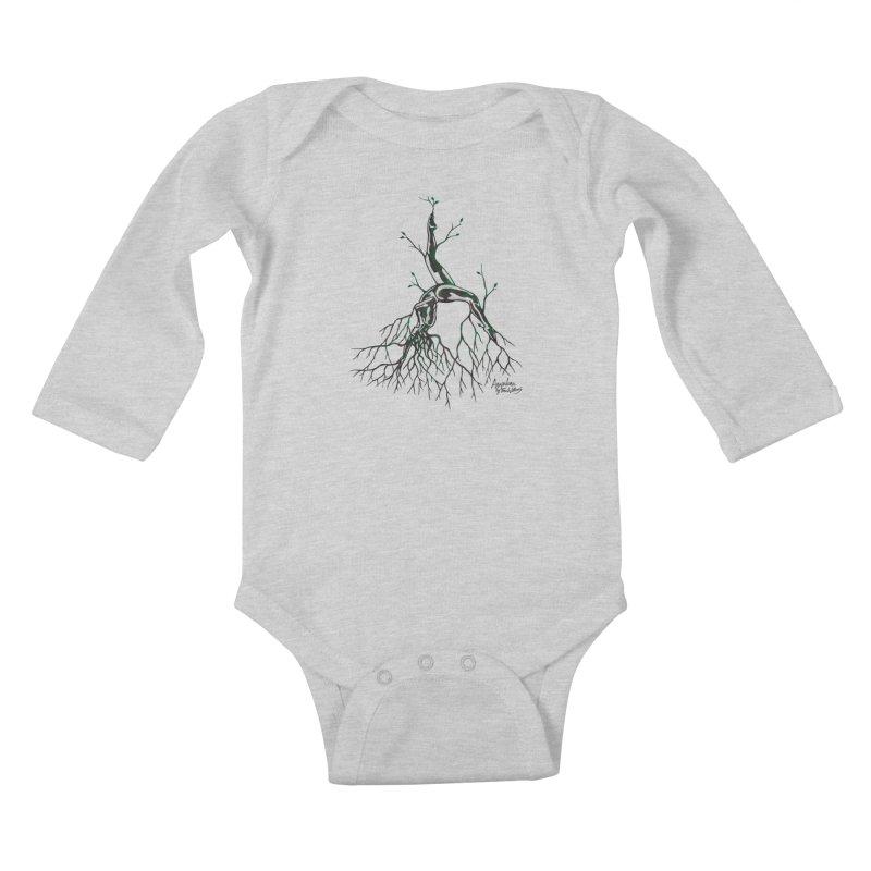 Tree Dancer 3 - Earth Tones Kids Baby Longsleeve Bodysuit by Anapalana by Tona Williams Artist Shop