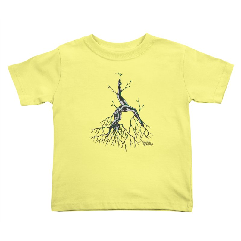 Tree Dancer 3 - Earth Tones Kids Toddler T-Shirt by Anapalana by Tona Williams Artist Shop