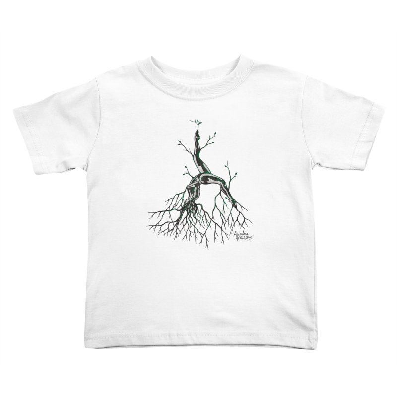 Tree Dancer 3 - Earth Tones Kids Toddler T-Shirt by Anapalana by Tona Williams Artist Shop