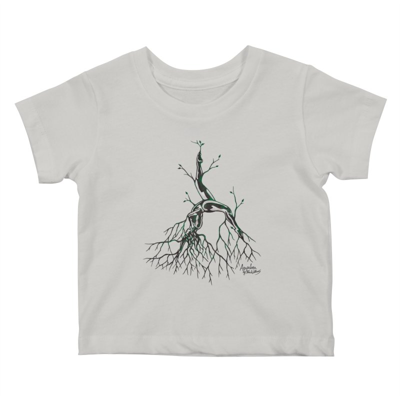 Tree Dancer 3 - Earth Tones Kids Baby T-Shirt by Anapalana by Tona Williams Artist Shop
