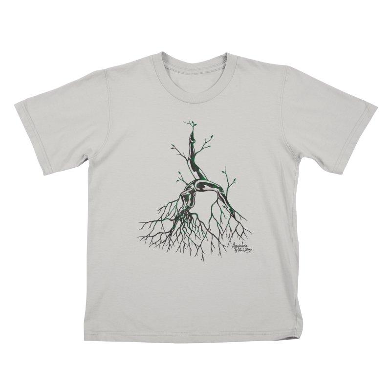 Tree Dancer 3 - Earth Tones Kids T-Shirt by Anapalana by Tona Williams Artist Shop
