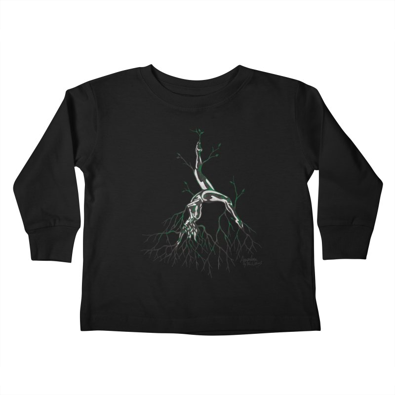 Tree Dancer 3 - Earth Tones Kids Toddler Longsleeve T-Shirt by Anapalana by Tona Williams Artist Shop