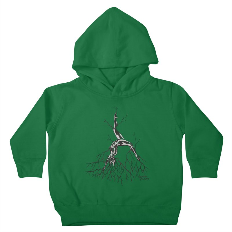 Tree Dancer 3 - Earth Tones Kids Toddler Pullover Hoody by Anapalana by Tona Williams Artist Shop