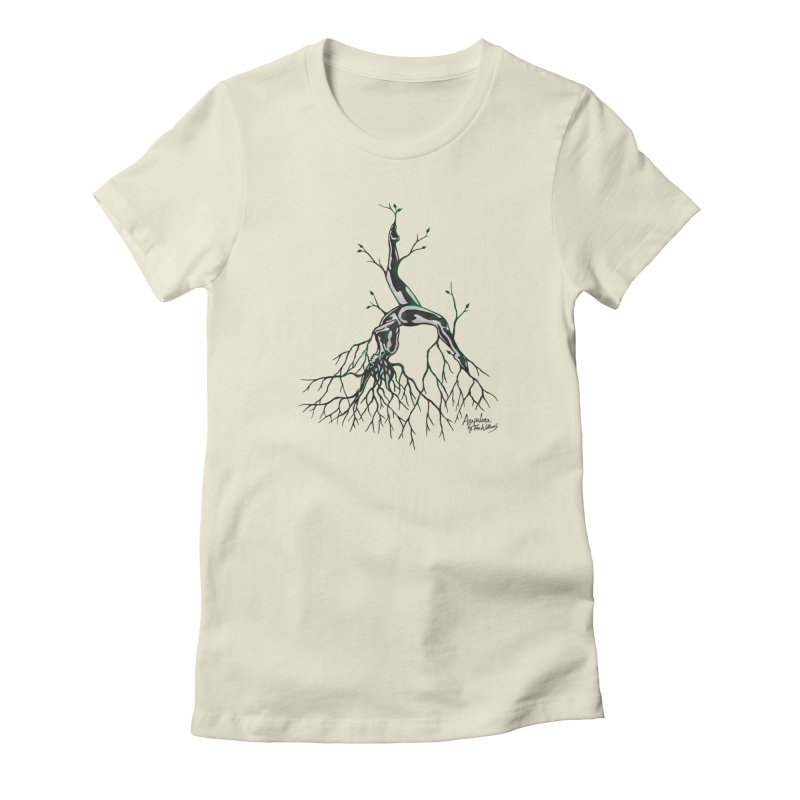 Tree Dancer 3 - Earth Tones Women's T-Shirt by Anapalana by Tona Williams Artist Shop