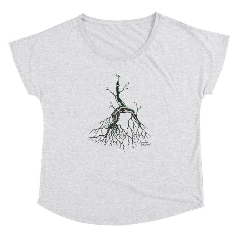 Tree Dancer 3 - Earth Tones Women's Dolman Scoop Neck by Anapalana by Tona Williams Artist Shop