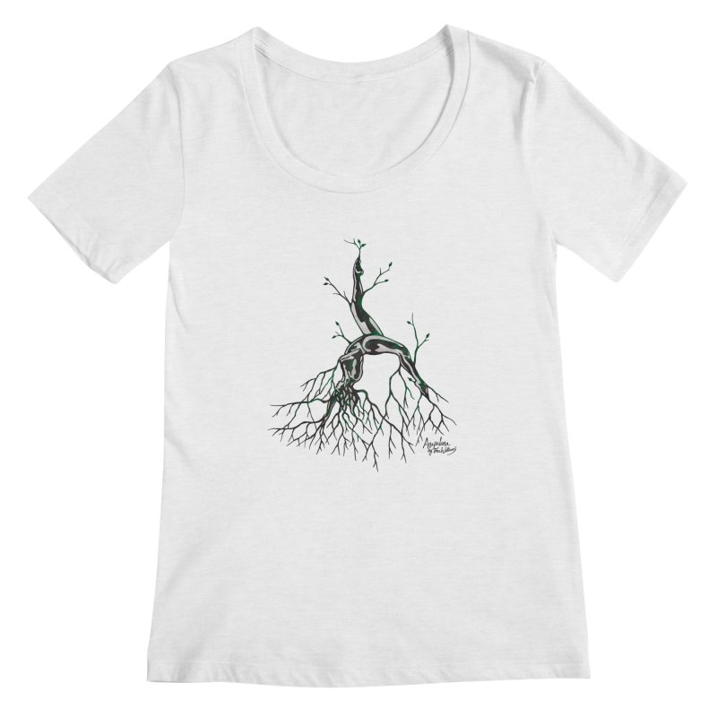 Tree Dancer 3 - Earth Tones Women's Regular Scoop Neck by Anapalana by Tona Williams Artist Shop