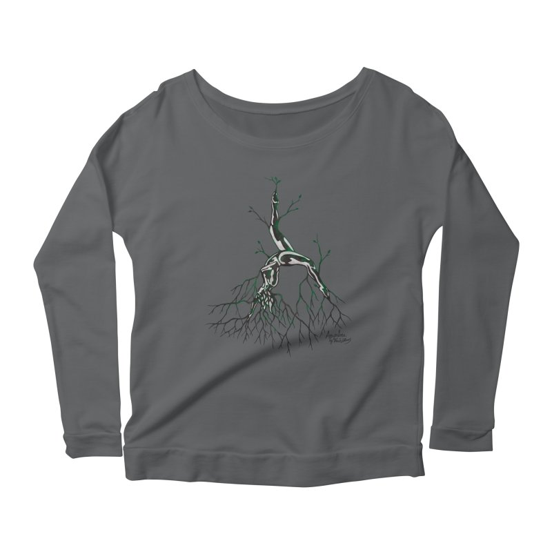 Tree Dancer 3 - Earth Tones Women's Scoop Neck Longsleeve T-Shirt by Anapalana by Tona Williams Artist Shop