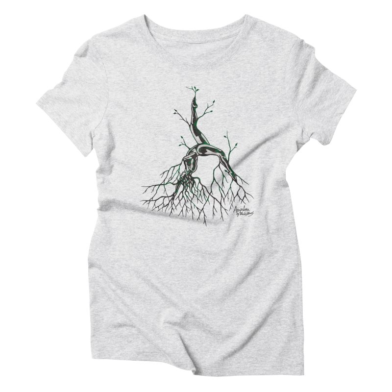 Tree Dancer 3 - Earth Tones Women's Triblend T-Shirt by Anapalana by Tona Williams Artist Shop
