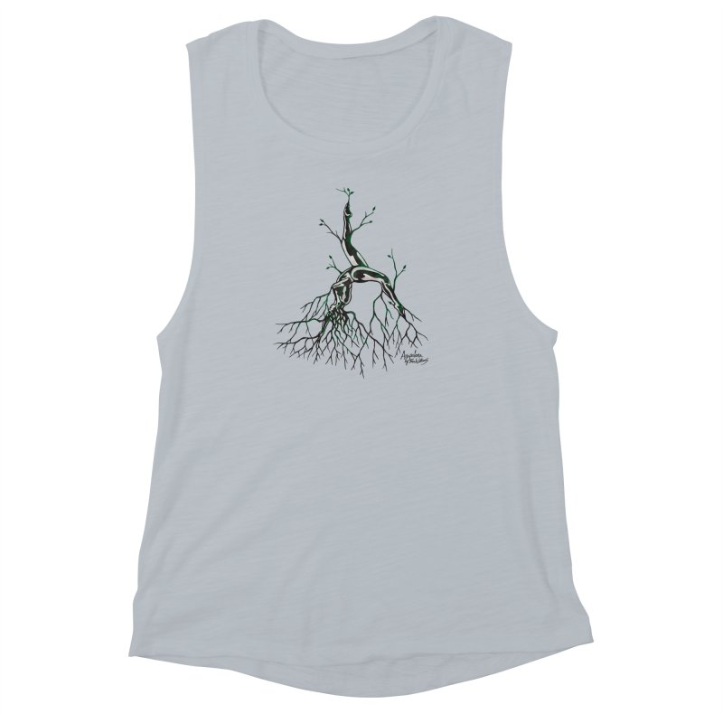 Tree Dancer 3 - Earth Tones Women's Muscle Tank by Anapalana by Tona Williams Artist Shop