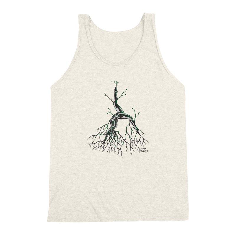 Tree Dancer 3 - Earth Tones Men's Triblend Tank by Anapalana by Tona Williams Artist Shop
