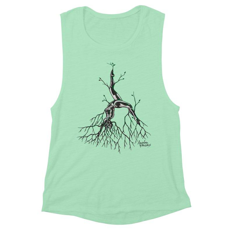 Tree Dancer 3 - Earth Tones Women's Muscle Tank by Anapalana by Tona Williams Artist Shop