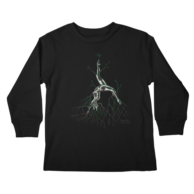 Tree Dancer 3 - Earth Tones Kids Longsleeve T-Shirt by Anapalana by Tona Williams Artist Shop