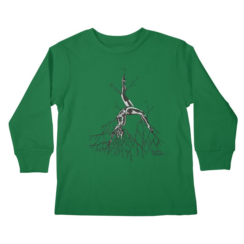 Tree Dancer 3 - Earth Tones Kids Longsleeve T-Shirt by Anapalana by Tona Williams Artist Shop