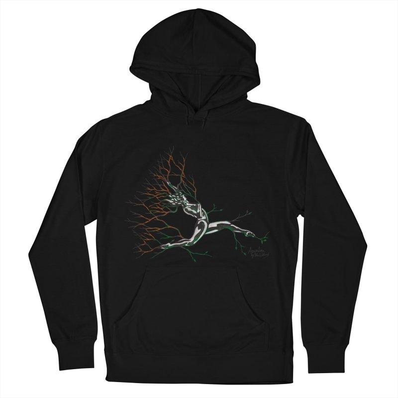 Tree Dancer 4 - Earth and Fire Men's French Terry Pullover Hoody by Anapalana by Tona Williams Artist Shop
