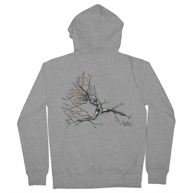 Tree Dancer 4 - Earth and Fire Women's Zip-Up Hoody by Anapalana by Tona Williams Artist Shop