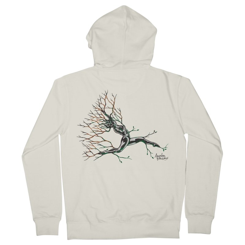 Tree Dancer 4 - Earth and Fire Women's French Terry Zip-Up Hoody by Anapalana by Tona Williams Artist Shop