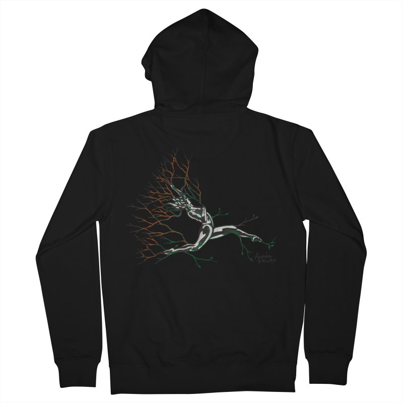 Tree Dancer 4 - Earth and Fire Men's French Terry Zip-Up Hoody by Anapalana by Tona Williams Artist Shop