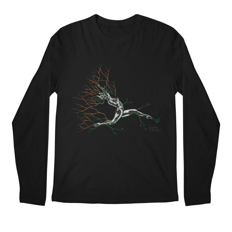 Tree Dancer 4 - Earth and Fire Men's Longsleeve T-Shirt by Anapalana by Tona Williams Artist Shop