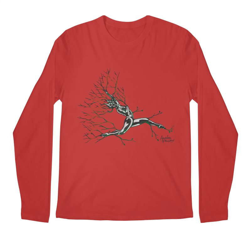 Tree Dancer 4 - Earth and Fire Men's Regular Longsleeve T-Shirt by Anapalana by Tona Williams Artist Shop