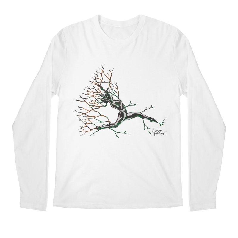 Tree Dancer 4 - Earth and Fire Men's Regular Longsleeve T-Shirt by Anapalana by Tona Williams Artist Shop