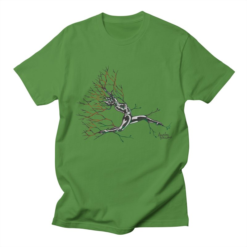 Tree Dancer 4 - Earth and Fire Men's T-shirt by Anapalana by Tona Williams Artist Shop