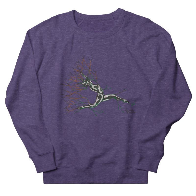 Tree Dancer 4 - Earth and Fire Women's French Terry Sweatshirt by Anapalana by Tona Williams Artist Shop