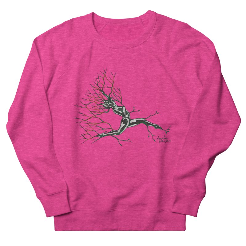 Tree Dancer 4 - Earth and Fire Men's French Terry Sweatshirt by Anapalana by Tona Williams Artist Shop