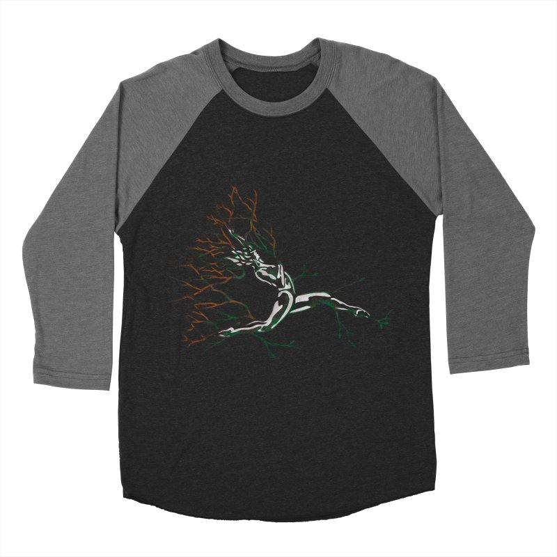 Tree Dancer 4 - Earth and Fire Women's Baseball Triblend T-Shirt by Anapalana by Tona Williams Artist Shop