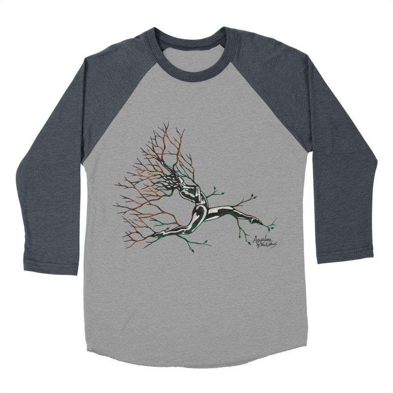 Tree Dancer 4 - Earth and Fire Women's Baseball Triblend Longsleeve T-Shirt by Anapalana by Tona Williams Artist Shop