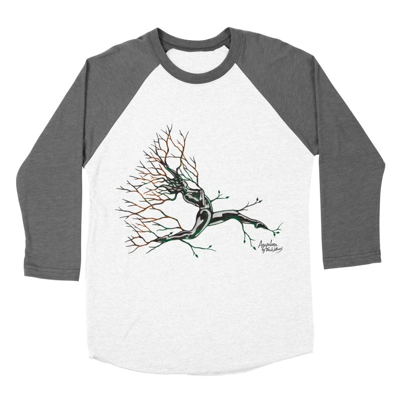 Tree Dancer 4 - Earth and Fire Men's Baseball Triblend T-Shirt by Anapalana by Tona Williams Artist Shop