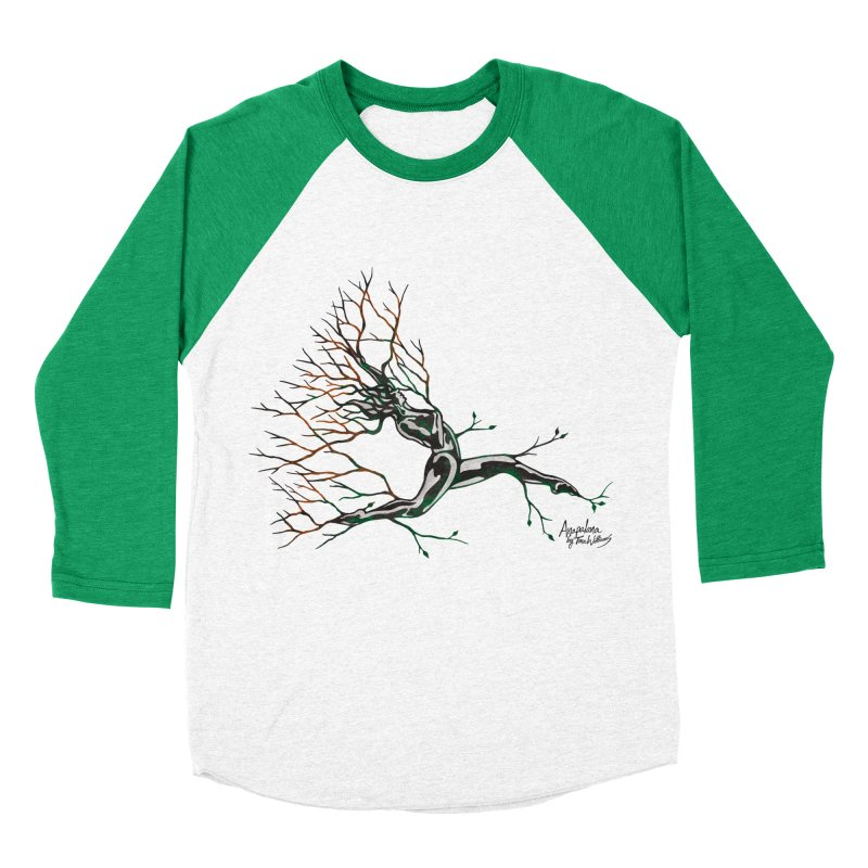 Tree Dancer 4 - Earth and Fire Men's Baseball Triblend Longsleeve T-Shirt by Anapalana by Tona Williams Artist Shop