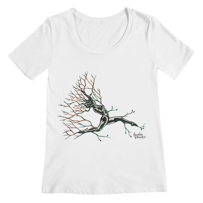 Tree Dancer 4 - Earth and Fire Women's Scoopneck by Anapalana by Tona Williams Artist Shop