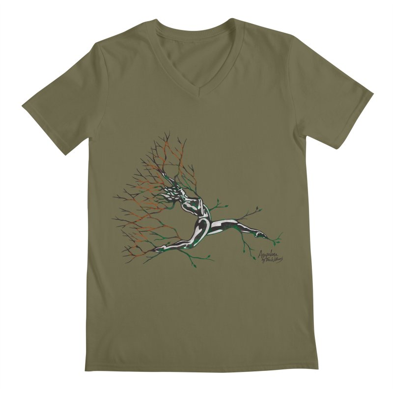 Tree Dancer 4 - Earth and Fire Men's V-Neck by Anapalana by Tona Williams Artist Shop