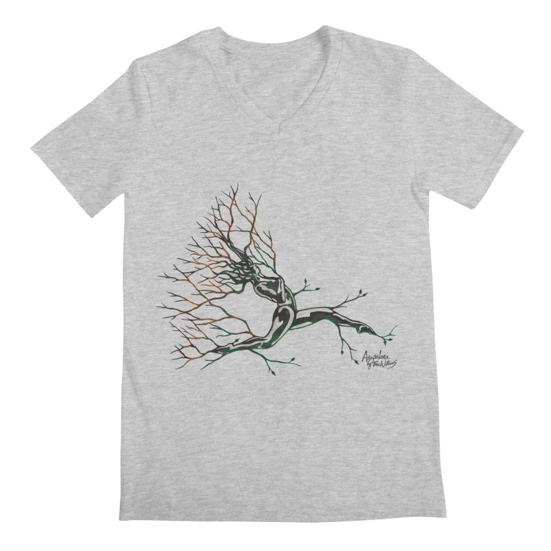 Tree Dancer 4 - Earth and Fire Men's V-Neck by Anapalana by Tona Williams Artist Shop