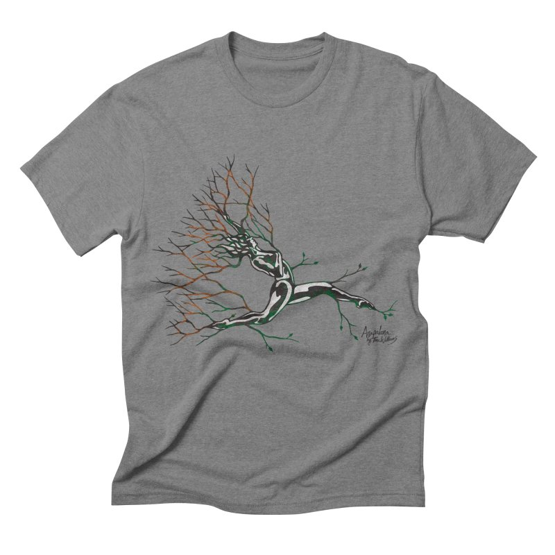Tree Dancer 4 - Earth and Fire in Men's Triblend T-shirt Grey Triblend by Anapalana by Tona Williams Artist Shop