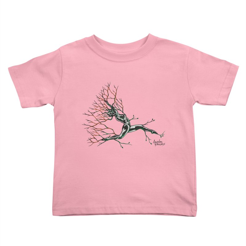 Tree Dancer 4 - Earth and Fire Kids Toddler T-Shirt by Anapalana by Tona Williams Artist Shop
