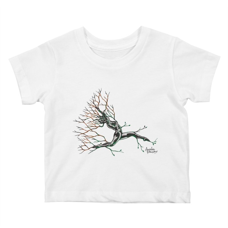 Tree Dancer 4 - Earth and Fire Kids Baby T-Shirt by Anapalana by Tona Williams Artist Shop
