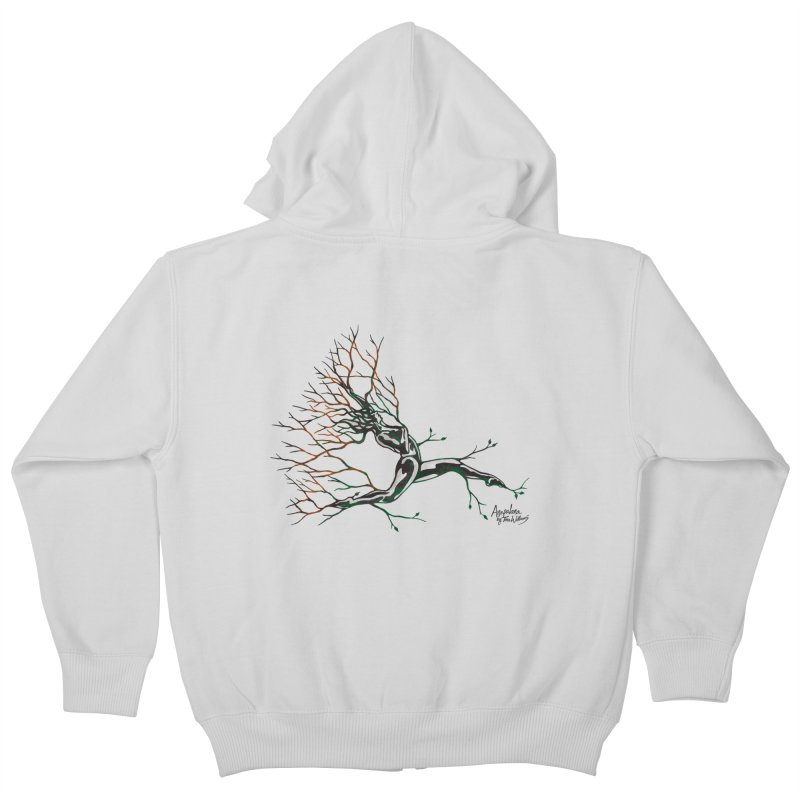 Tree Dancer 4 - Earth and Fire Kids Zip-Up Hoody by Anapalana by Tona Williams Artist Shop